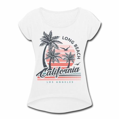 Long Beach CA - Women's Roll Cuff T-Shirt