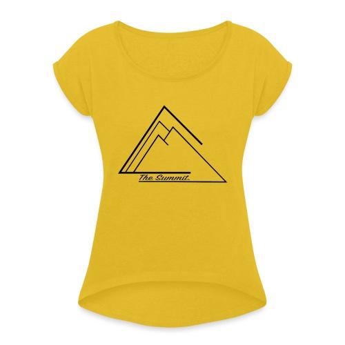 The Summit Phone case - Women's Roll Cuff T-Shirt
