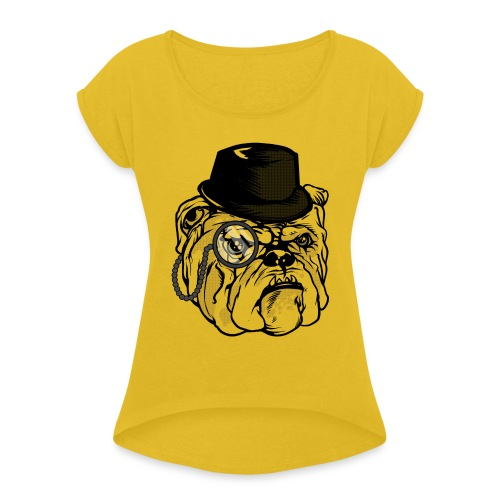 lifesabitch.png - Women's Roll Cuff T-Shirt
