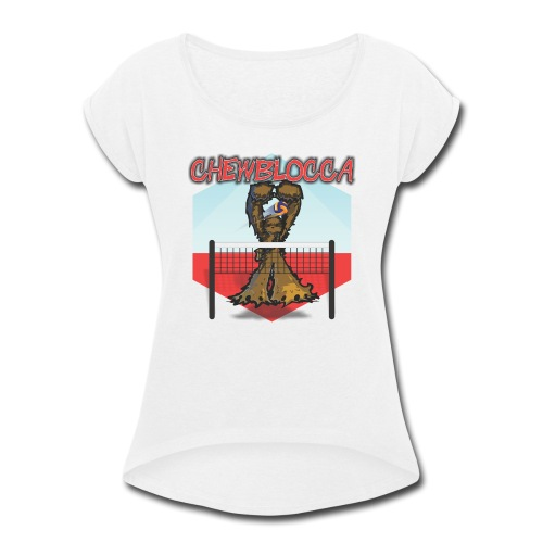 Chewblocca Volleyball Team Logo - Women's Roll Cuff T-Shirt