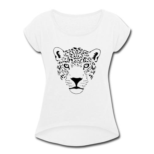 jaguar cougar cat puma panther leopard cheetah - Women's Roll Cuff T-Shirt