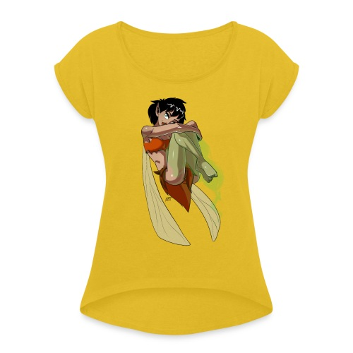 Crysta - Women's Roll Cuff T-Shirt