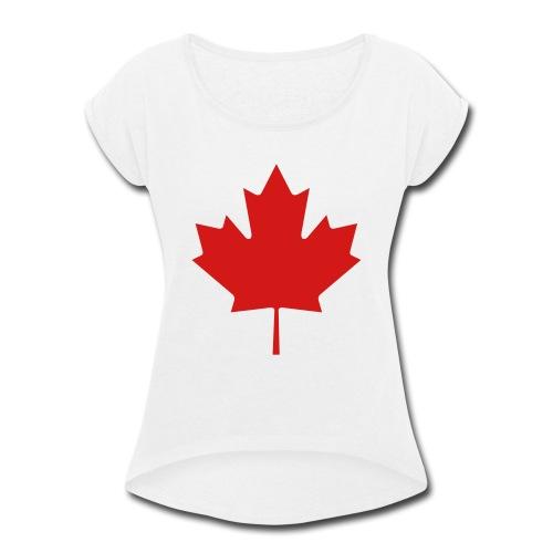 umar playz tee - Women's Roll Cuff T-Shirt