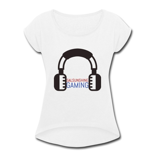 salsunshine gaming logo - Women's Roll Cuff T-Shirt