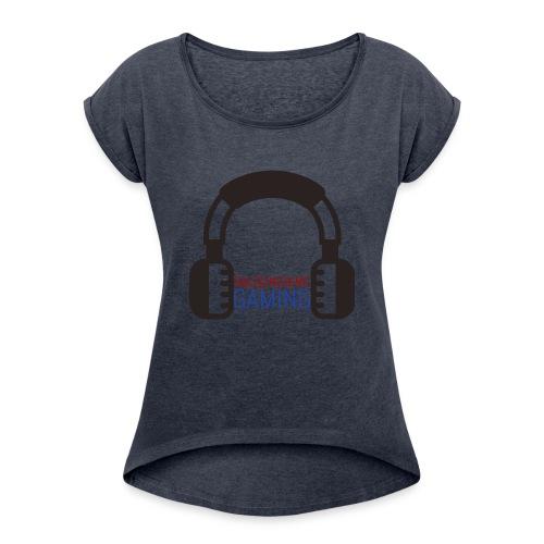 salsunshine gaming logo - Women's Roll Cuff T-Shirt