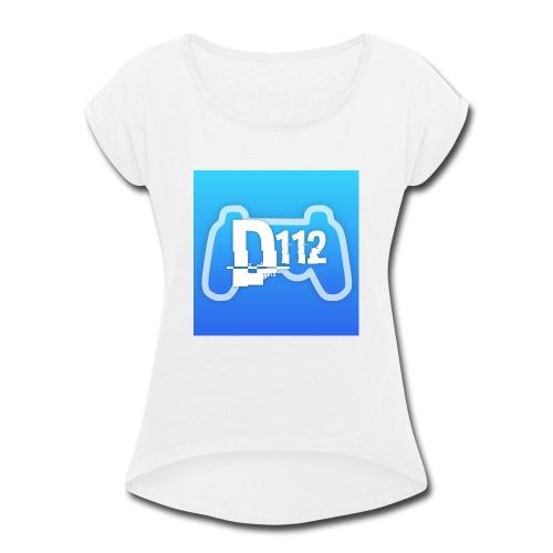 D112gaming logo - Women's Roll Cuff T-Shirt