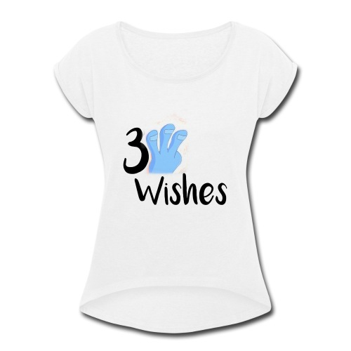 3 Wishes Abstract Design. - Women's Roll Cuff T-Shirt