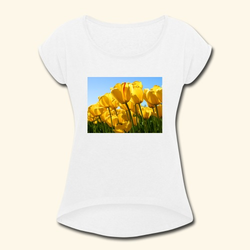 Tulips - Women's Roll Cuff T-Shirt