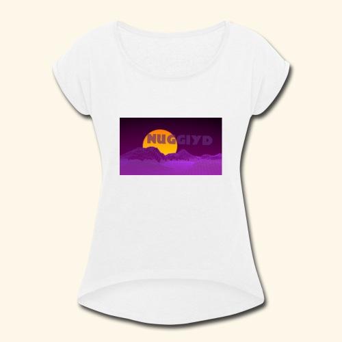 purple boy shirt - Women's Roll Cuff T-Shirt