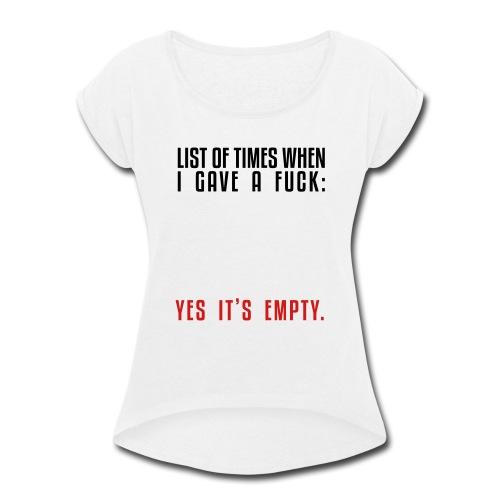 List - Women's Roll Cuff T-Shirt