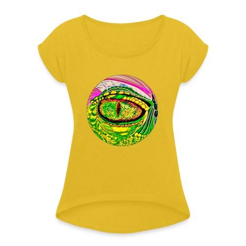 Dragon eye - Women's Roll Cuff T-Shirt
