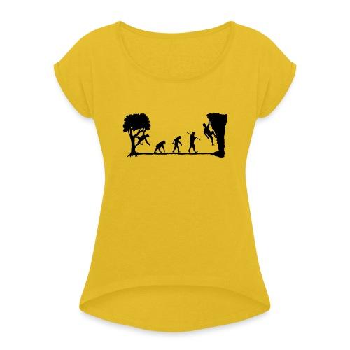 Apes Climb - Women's Roll Cuff T-Shirt