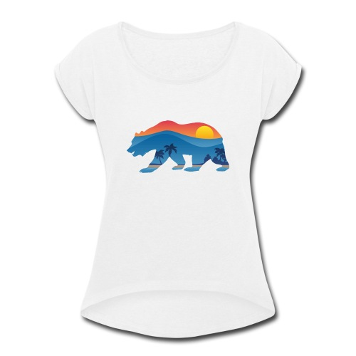 California Bear - Women's Roll Cuff T-Shirt