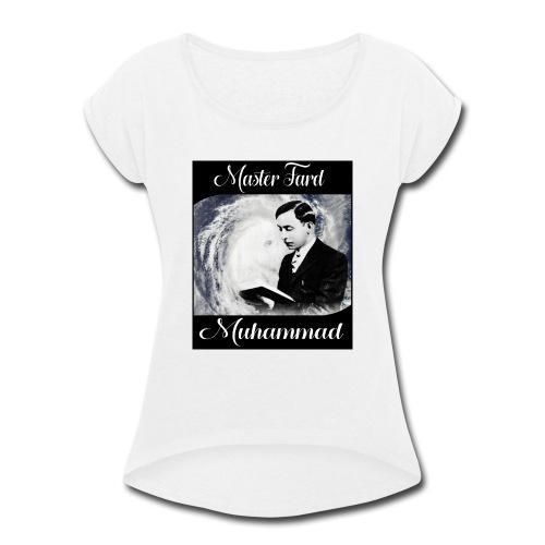 Master Fard Muhammad Hurricane Classic - Women's Roll Cuff T-Shirt