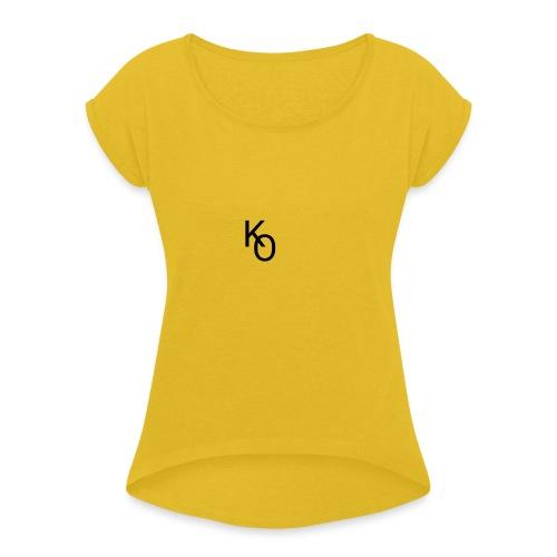 K Over The O - Women's Roll Cuff T-Shirt