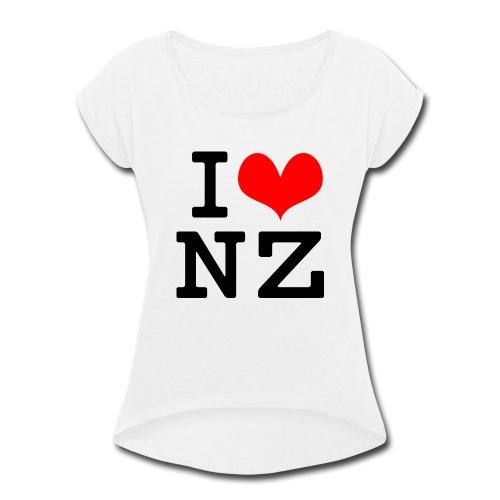 I Love NZ - Women's Roll Cuff T-Shirt