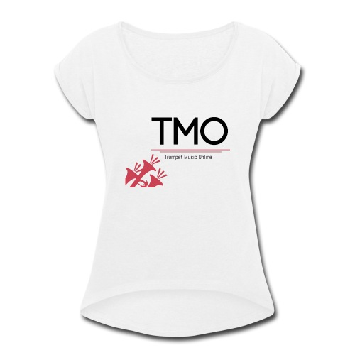 TMO Logo - Women's Roll Cuff T-Shirt