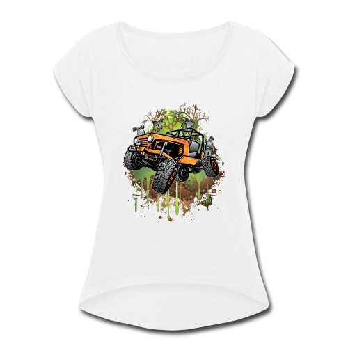 Wrangler Halloween Zombie - Women's Roll Cuff T-Shirt