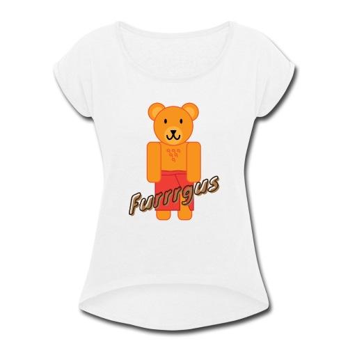 Presidential Suite Furrrgus - Women's Roll Cuff T-Shirt