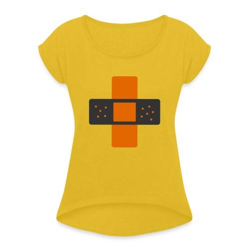 bloggingaid-icon - Women's Roll Cuff T-Shirt