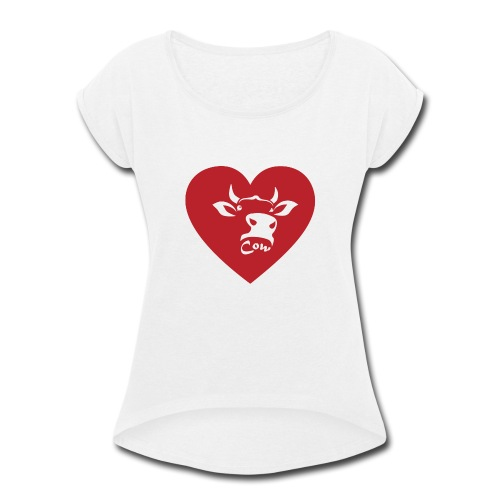 Cow Heart - Women's Roll Cuff T-Shirt