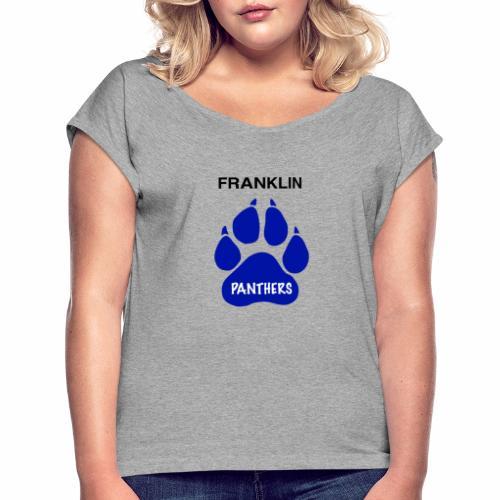 Franklin Panthers - Women's Roll Cuff T-Shirt