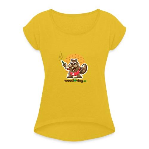 WeedLoving.ca Classic Swag - Women's Roll Cuff T-Shirt