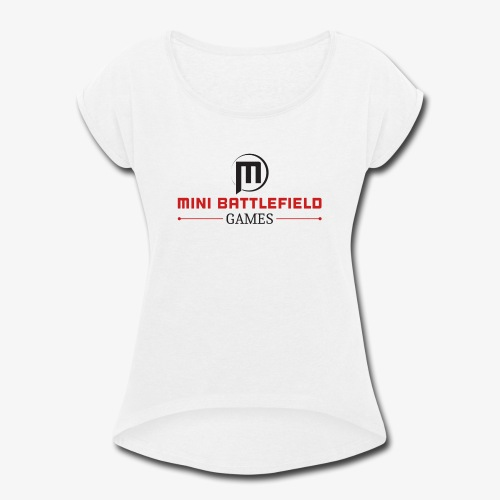 Mini Battlefield Games Logo - Women's Roll Cuff T-Shirt
