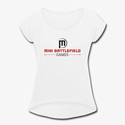 Mini Battlefield Games Logo - Women's Roll Cuff T-Shirt