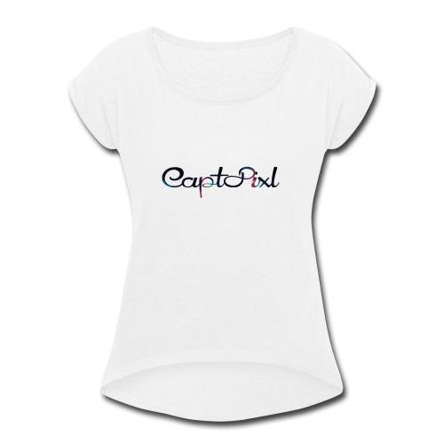 My YouTube Watermark - Women's Roll Cuff T-Shirt
