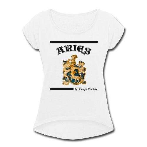 ARIES BLACK - Women's Roll Cuff T-Shirt