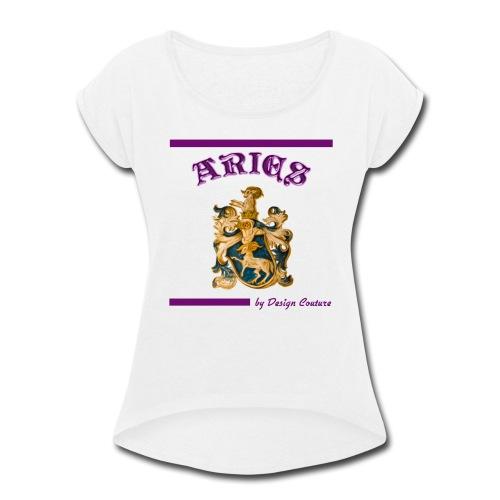 ARIES PURPLE - Women's Roll Cuff T-Shirt