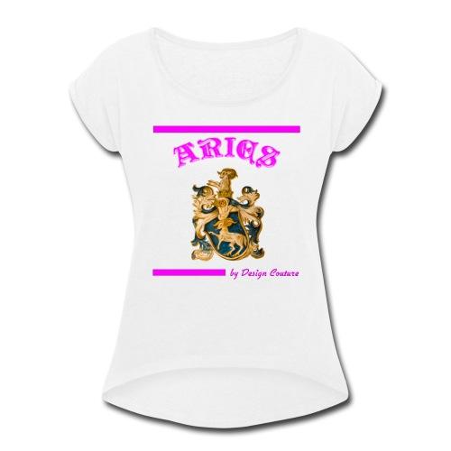 ARIES PINK - Women's Roll Cuff T-Shirt
