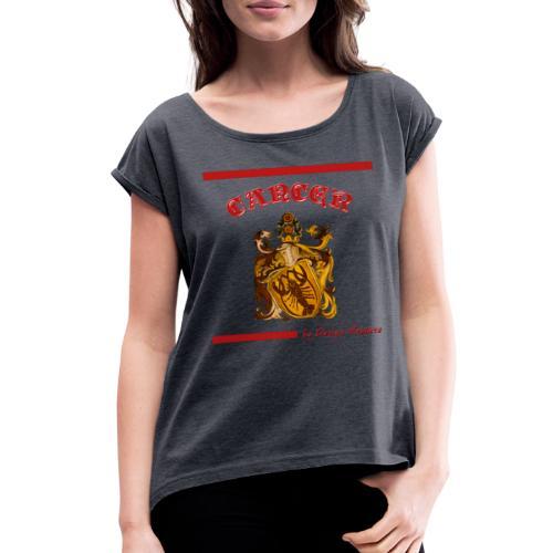 CANCER RED - Women's Roll Cuff T-Shirt