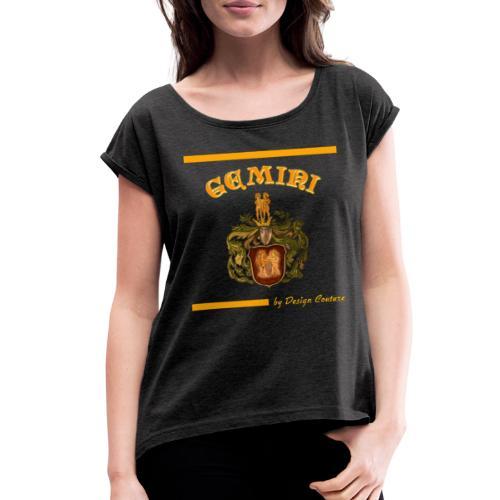 GEMINI ORANGE - Women's Roll Cuff T-Shirt