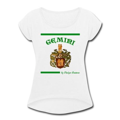 GEMINI GREEN - Women's Roll Cuff T-Shirt