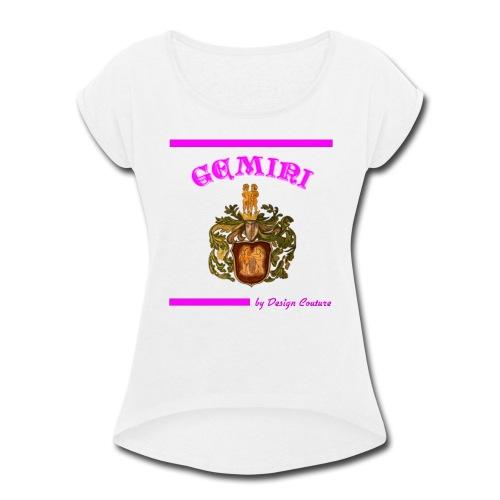 GEMINI PINK - Women's Roll Cuff T-Shirt