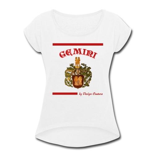 GEMINI RED - Women's Roll Cuff T-Shirt