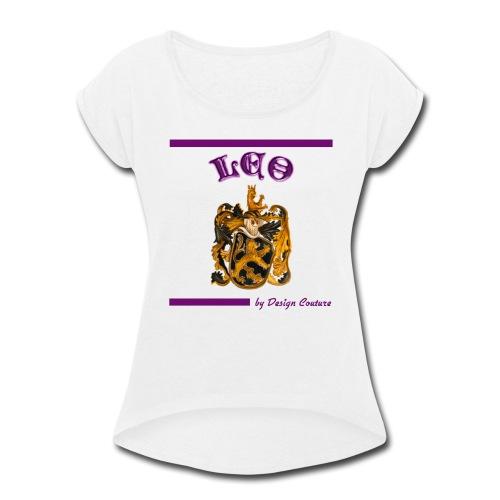 LEO PURPLE - Women's Roll Cuff T-Shirt