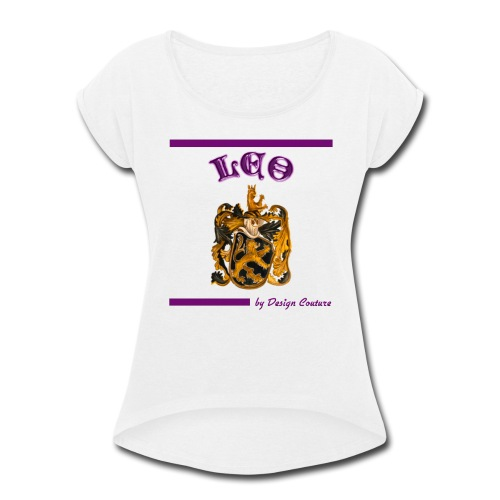 LEO PURPLE - Women's Roll Cuff T-Shirt