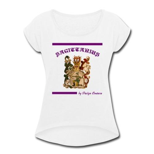 SAGITTARIUS PURPLE - Women's Roll Cuff T-Shirt