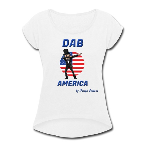 DAB AMERICA BLUE - Women's Roll Cuff T-Shirt