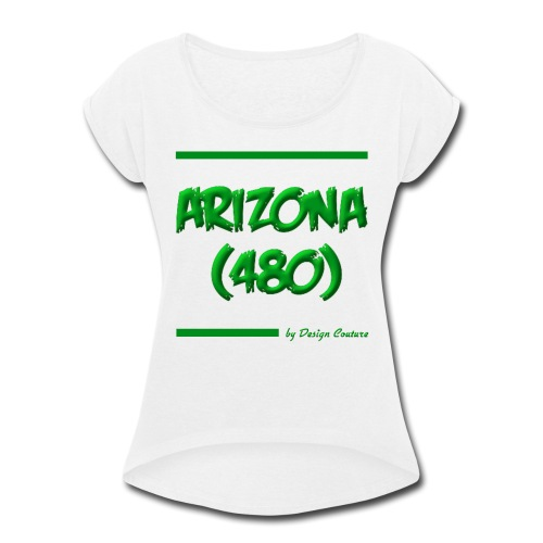 ARIZON 480 GREEN - Women's Roll Cuff T-Shirt