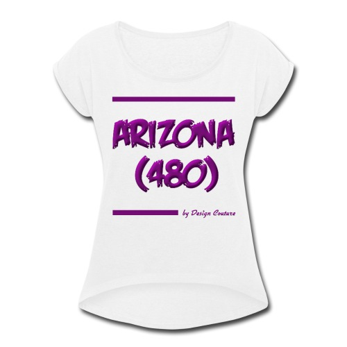 ARIZON 480 PURPLE - Women's Roll Cuff T-Shirt