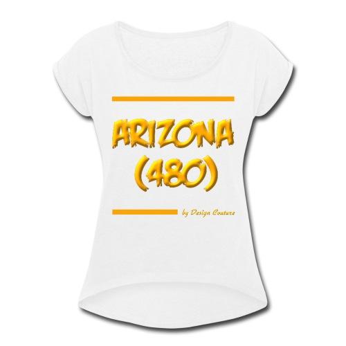 ARIZON 480 ORANGE - Women's Roll Cuff T-Shirt