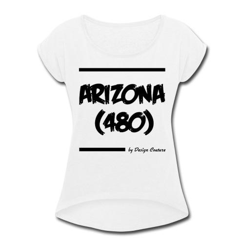 ARIZON 480 BLACK - Women's Roll Cuff T-Shirt