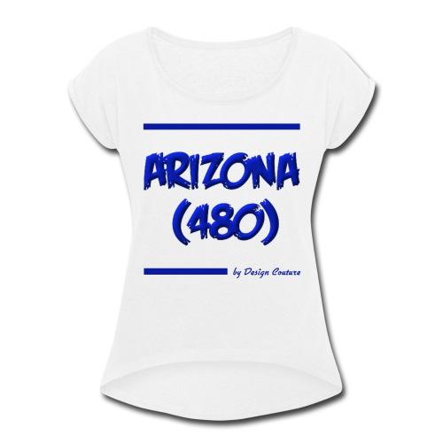 ARIZON 480 BLUE - Women's Roll Cuff T-Shirt