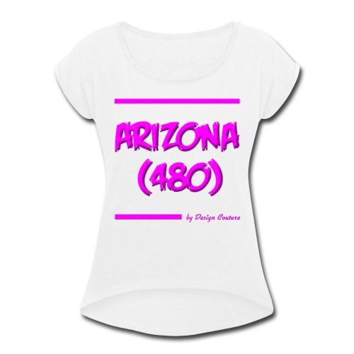 ARIZON 480 PINK - Women's Roll Cuff T-Shirt