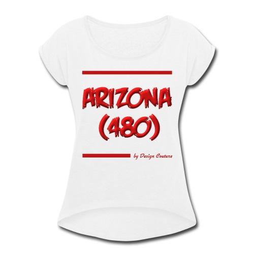 ARIZON 480 RED - Women's Roll Cuff T-Shirt