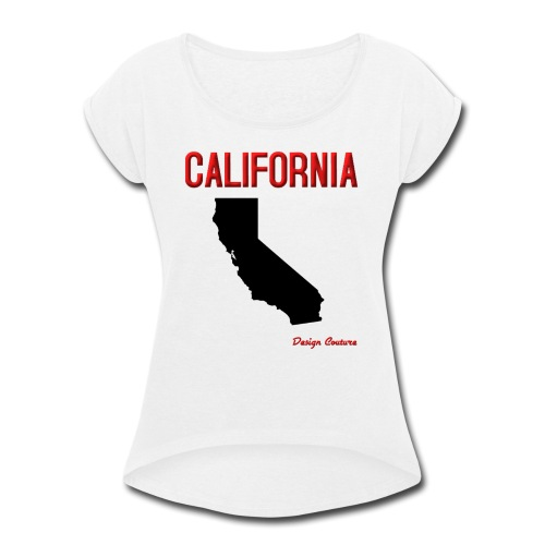 CALIFORNIA RED - Women's Roll Cuff T-Shirt